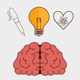 Kreative Ideen des menschlichen Gehirns Lizenzfreie Stockfotografie