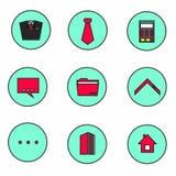 Kreative Ikonen für Geschäft Stockbild