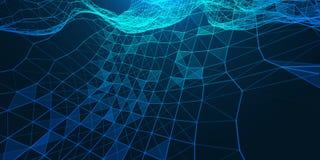 Kreative Illustration mit niedriger Polyverbindungsstruktur stockfotografie