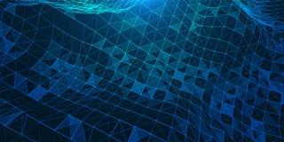 Kreative Illustration mit niedriger Polyverbindungsstruktur stockbild