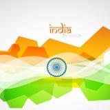 Kreative indische Markierungsfahne Stockfoto