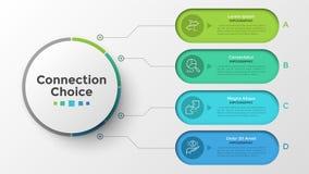 Kreative infographic Designschablone lizenzfreie abbildung