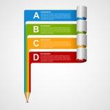 Kreative Infographics-Designschablone vektor abbildung