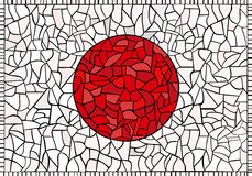 Kreative JAPAN-Staatsflagge Lizenzfreie Stockfotos