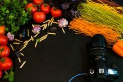 Kreative Kunst der Lebensmittelphotographie-Zusammenstellung Lizenzfreies Stockbild
