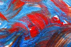 Kreative Kunsthintergrundhand gezeichnete Acrylmalerei Nahaufnahme sho Stockfotos