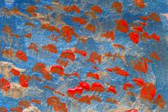 Kreative Kunsthintergrundhand gezeichnete Acrylmalerei Nahaufnahme sho Stockbilder