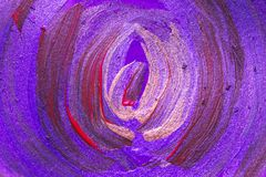 Kreative Kunsthintergrundhand gezeichnete Acrylmalerei Nahaufnahme sho Stockfoto