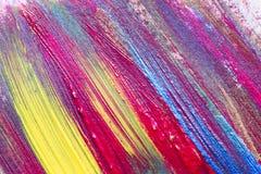 Kreative Kunsthintergrundhand gezeichnete Acrylmalerei Nahaufnahme sho Stockfotografie