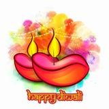 Kreative Lit-Lampen für Diwali-Feier Stockbilder