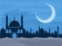 Kreative Moschee in der Nacht für islamisches Festival Stockfotos