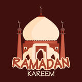 Kreative Moschee für Ramadan Kareem Stockfoto