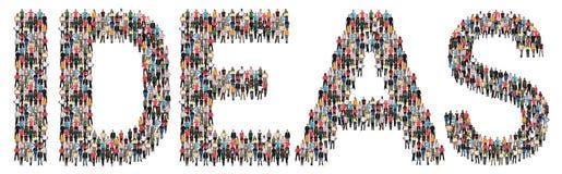 Kreative multi Ethnie der Ideenideenerfolgswachstums-Kreativität lizenzfreie stockfotos