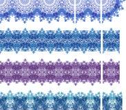 Kreative nahtlose Spitzee eingestellt vektor abbildung