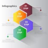 Kreative Raute Infographics Stockbilder