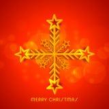 Kreative Schneeflocke für Weihnachtsfeier vektor abbildung