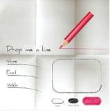 Kreative Skizzennetzform auf gefaltetem Papier stock abbildung