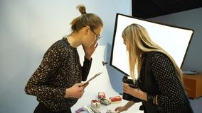 Kreative Teamwork-Ideen der Bühne hinter dem Vorhang-Fotografie Stockfotos