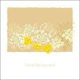 Kreative Universalblumenkarte Hand gezeichnete Beschaffenheiten Hochzeit, Jahrestag, Geburtstag, Valentin-` s Tag, Parteieinladun stock abbildung