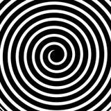 Kreative Vektorillustration der hypnotischen psychedelischen Spirale Kunstdesign-Radialstrahlen, Rotation, verdrehten sich, Sonne lizenzfreie abbildung