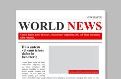 Kreative Vektorillustration der Tageszeitungszeitschrift, fördernde Nachrichten des Geschäfts lokalisiert auf transparentem Hinte lizenzfreie abbildung