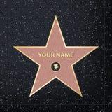 Kreative Vektorillustration des Sternes des berühmten Schauspielers des Bürgersteigs Hollywood-Weg des Ruhmkunstdesigns Grafik de lizenzfreie abbildung