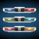 Kreative Vektorillustration gegen des Hintergrundes GEGEN Logokunstdesign für Wettbewerb, Kampf, Sportmatch, Ereignis, Spiel stock abbildung
