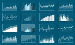 Kreative Vektorillustration von Finanzdiagrammen der kommerziellen Daten Finanzdiagramm-Kunstdesign Wachsen, fallender Markt vektor abbildung