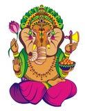 Kreative Vektorillustration von Lord Ganesha lizenzfreies stockbild