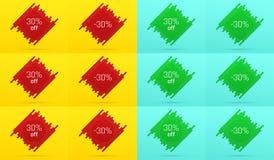 Kreative Verkaufs-Fahne mit 30 weg angebot lizenzfreie abbildung