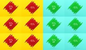 Kreative Verkaufs-Fahne mit 15 weg angebot Stockbild