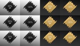 Kreative Verkaufs-Fahne mit 30 weg Preis-Rabatt vektor abbildung