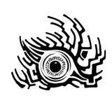 Kreative Verzierung mit Auge stock abbildung
