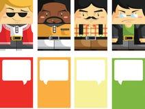 Kreative Visitenkarte mit kundengerechtem Illustrat Lizenzfreie Stockbilder