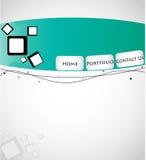 Kreative Web-Schablone Stockfoto