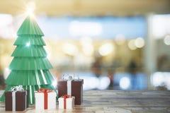 Kreative Weihnachtsbaumtapete stock abbildung
