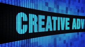 Kreative Werbungsseite simsen das In einer Liste verzeichnen des LED-Wand-Anzeigetafel-Zeichen-Brettes stock footage