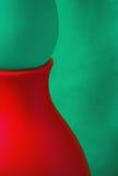 Kreativer abstrakter grüner und roter Hintergrund Stockfotos