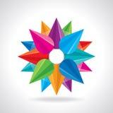 Kreativer abstrakter Kreisdesignvektor Stockbild