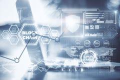 Kreativer blockchain Hintergrund Lizenzfreies Stockfoto