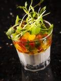 Kreativer Eintrag mit Tomate B lizenzfreies stockfoto