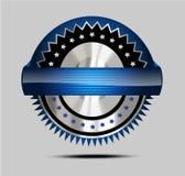 Unternehmensmarktaufkleber/-emblem/-aufkleber Stockbild