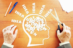 Kreativer Gedanke Konzept des Geistesblitzes Stockbild
