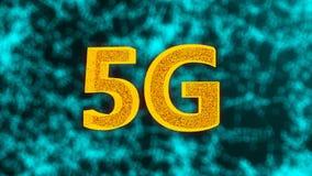 Kreativer glühender 5G Hintergrund, dieses ist bewegliches Internet-Konzept, 3d zu übertragen lizenzfreie abbildung