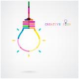 Kreativer Glühlampe Ideenkonzepthintergrund Stockfotos