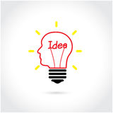 Kreativer Glühlampe Ideenkonzepthintergrund Lizenzfreie Stockfotografie
