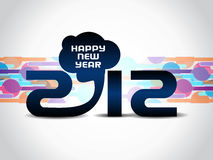 Kreativer Hintergrund 2012 des glücklichen neuen Jahres Lizenzfreies Stockbild