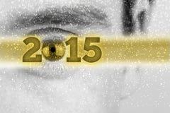 Kreativer Hintergrund des neuen Jahres 2015 Stockfoto
