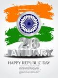 Kreativer Hintergrund für Republik-Tag. Lizenzfreie Stockfotos