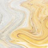 Kreativer Hintergrund mit abstraktes Acryl gemalten Wellen Beautif Lizenzfreies Stockbild